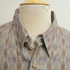 JHANE BARNES Japan GEOMETRIC retro Shirt L